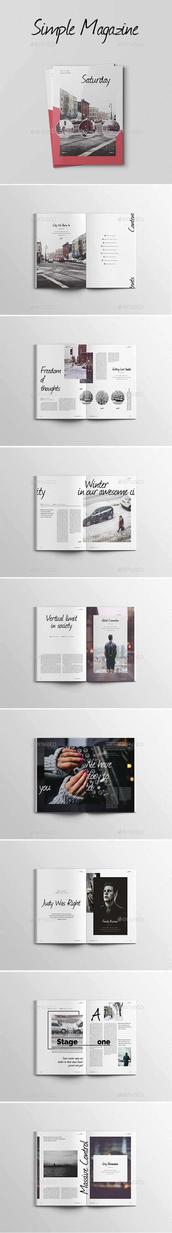 InDesign 32 Pages Simple Magazine  Template • Only available here ➝ http://graphicriver.net/item/32-pages-simple-magazine/16396440?ref=pxcr