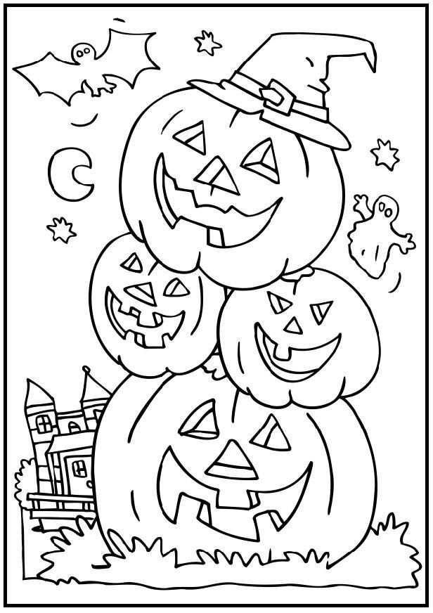 Pile Pumpkin Head coloring picture for kids