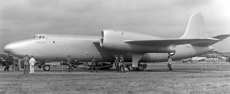 The Shorts Sperrin was a low tech insurance policy by the RAF to ensure it had a stategic bomber if delays arose with the cutting edge Vulcan and Victor bombers. However, Valiant developed by Vickers took this role and only two Sperrins were built (used as flying test beds).