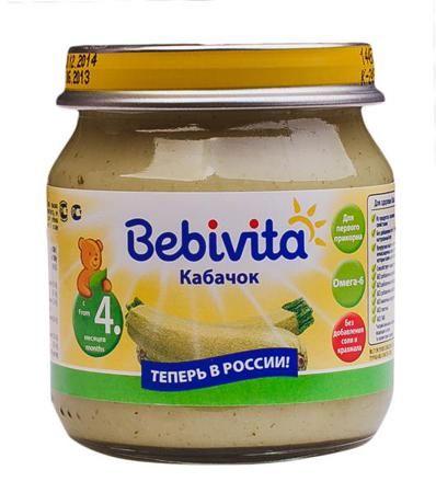 Bebivita Пюре Кабачок с 4 мес. 100 г  — 45р. -------------------  Bebivita Пюре Кабачок приготовлено с заботой – из лучших ингредиентов, которые может дать природа.   Особенности: Из продуктов с низкими аллергенными свойствами Без добавления соли, чтобы Ваш ребёнок узнал натуральный вкус Кукурузное масло – источник ценных ненасыщенных жирных кислот Омега-6, которые важны для сбалансированного питания Способствует комфортному пищеварению Без добавления ароматизаторов Без добавления…