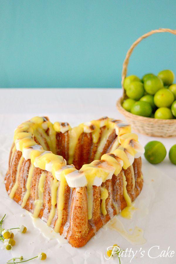 Creative s'mores bundt cake #Bundtbakers Key lime S'more bundt cake - Bizcocho de lima con nubes (English recipe included)