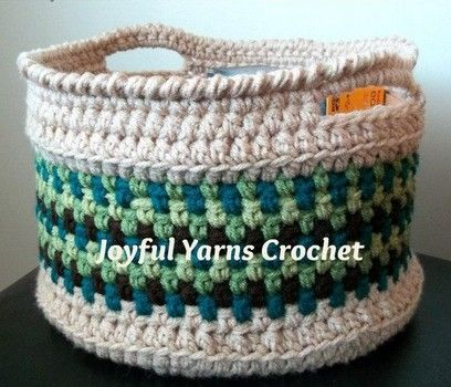 A crocheted basket makes a lovely home décor item to store toys, yarn, supplies…