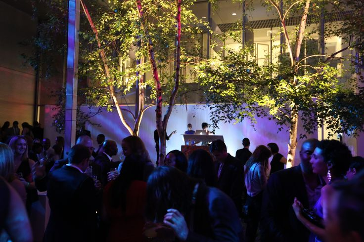 softwall at MoMA garden party