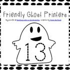 "FREE! Here's a fun, ""friendly ghosts"" Number tracer set! Just laminate and cut out the cards and then students can trace them. This would also be great to use with ""ghost"" stories like ""Hide and Ghost Seek"" or ""Ten Timid Ghosts"" or any other children's book with ghosts!"