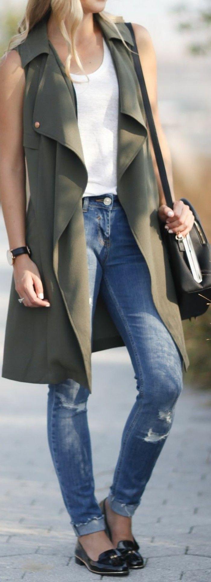 Tenue de jour avec la veste legere femme