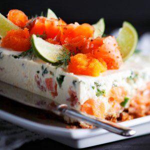 Lohi-juustokakku - Kotiliesi.fi - Salmon cheesecake