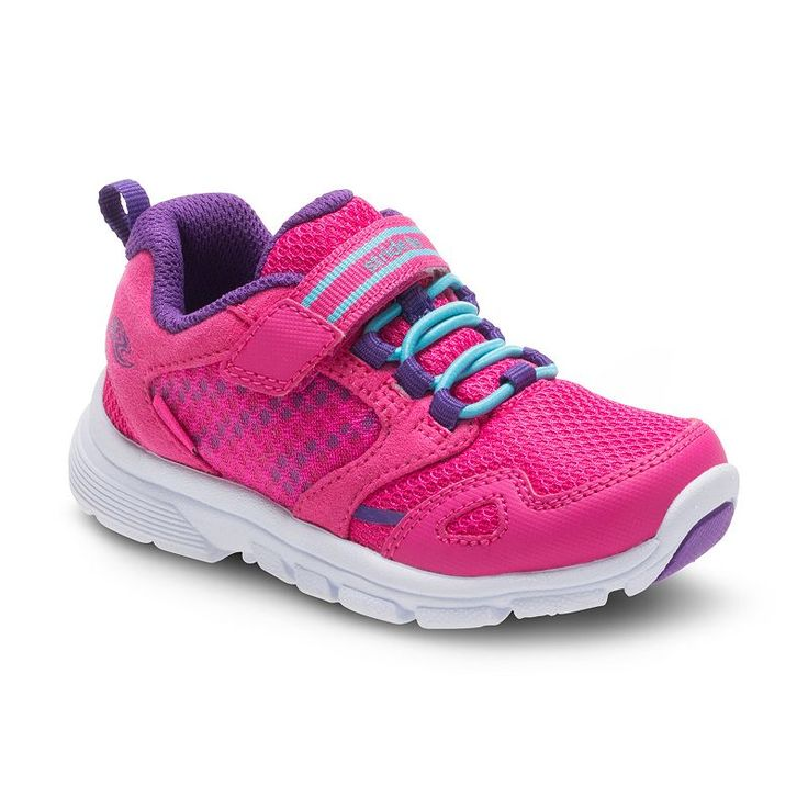 Stride Rite Made 2 Play Taylor Girls' Sneakers, Girl's, Size: 10 T Wide, Pink, Durable