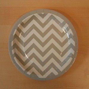 Chevron Gray Paper Plate 7u201d | 8 ct - $1.90 & 32 best Tutti Frutti Party images on Pinterest | Honeycombs Diamond ...