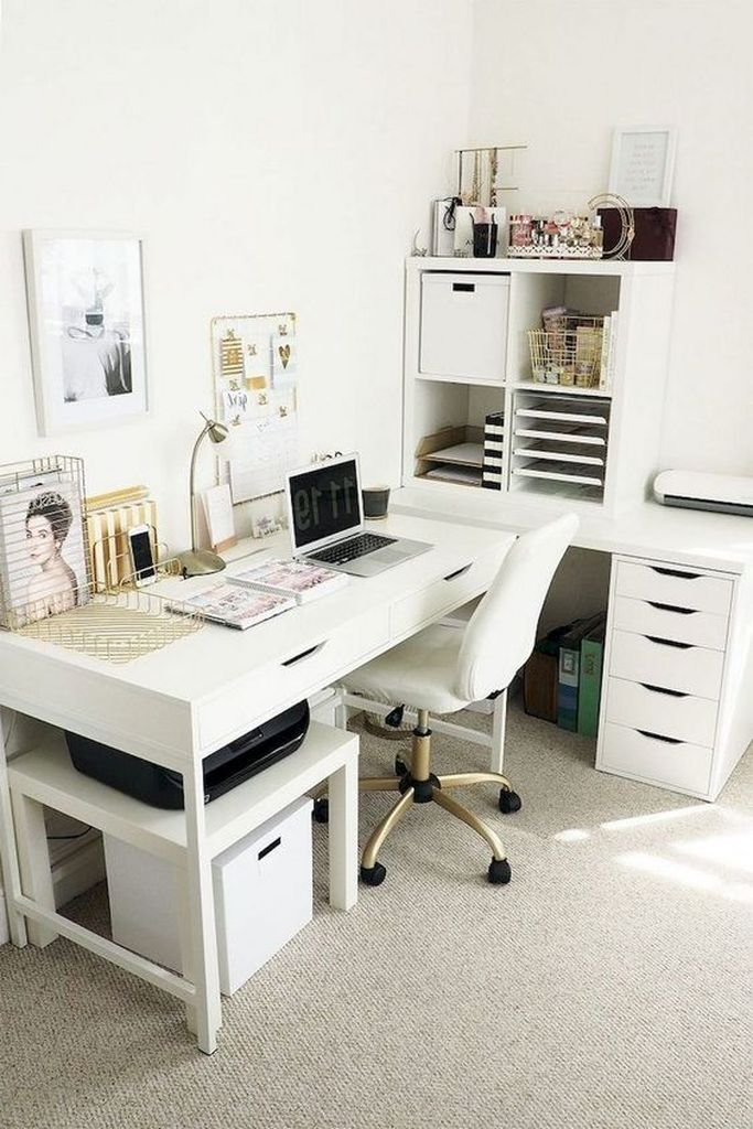 40 Fancy Workspace Decoration Idea At Home Home Office Decor