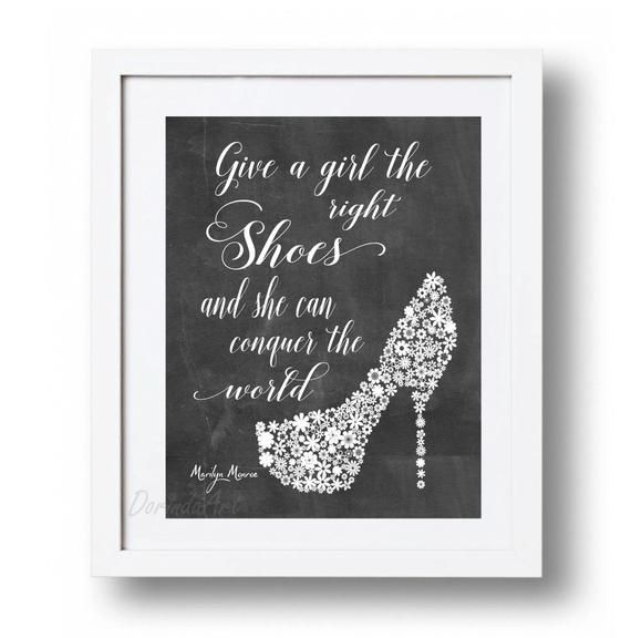 Marilyn Monroe Quote Printable Fashion wall art poster