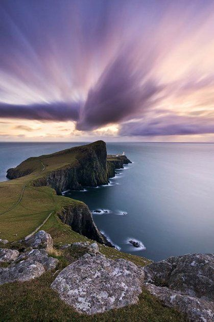 This is the kind of cape where I imagine The Dark Is Rising would take place. Neist Point, Isle of Skye in Scotland.