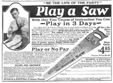 advertising in the 1920s | ... from 1922 1924 1925 1927 8 during the 1920 s there were musical saw