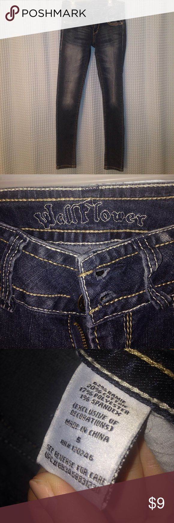 WALLFLOWER jeans Worn once, almost perfect condition. Size 5 Wallflower Jeans Straight Leg