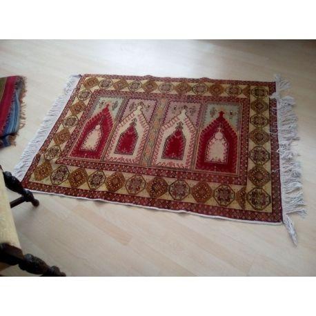Χειροποίητο χαλί προσευχής από Αφγανιστάν - Handmade carpet prayer from Afghanistan 1,20 Χ 1,60 με εξαιρετικά σχήματα και χρώματα