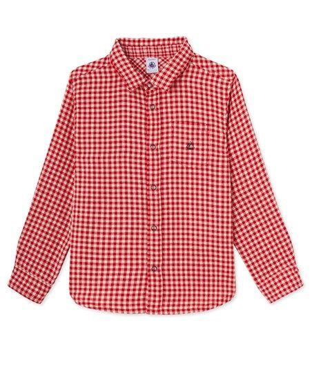 Chemise à carreaux rouges et blancs petit garçon