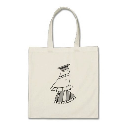 Academic/graduation dress kawaii / cute cartoon character bags. Personalize by adding your own text, and/or scale/position the design to your liking.