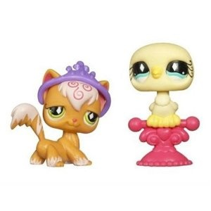 Littlest Pet Shop Pet Pairs Orange Cat & Yellow Dove