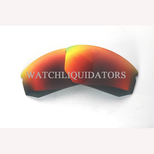 REPLACEMENT LENSES FOR SPY OPTIC ALPHA SUNGLASSES DARK GRAY W/ FURY RED MIRROR