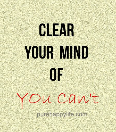 how to clear your mind of thoughts