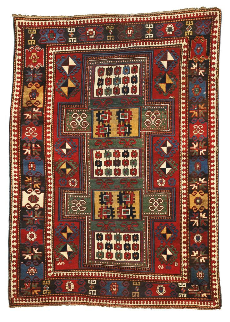 A kazak rug southwest caucasus approximately 8ft by 5ft for Alfombras iranies