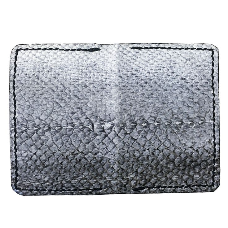 Slim Jim salmon fishleather card wallet with black calf interior
