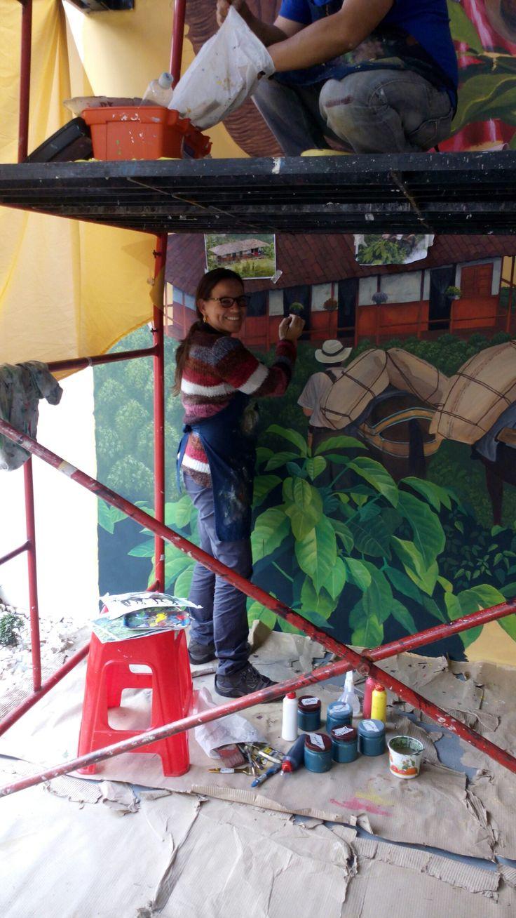 #Mural #art #Paisajeculturalcafetero