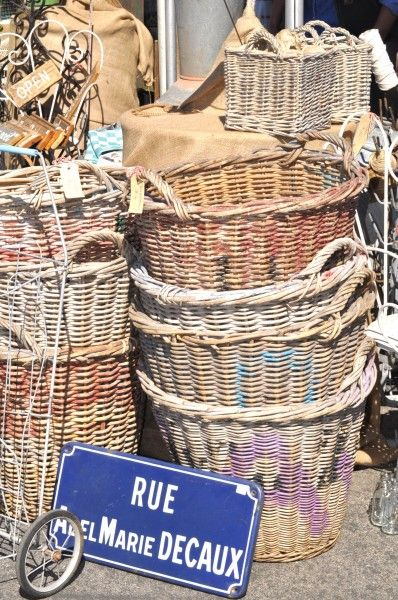 french baskets - I got a basket like this in Italy and it was not expensive at all!