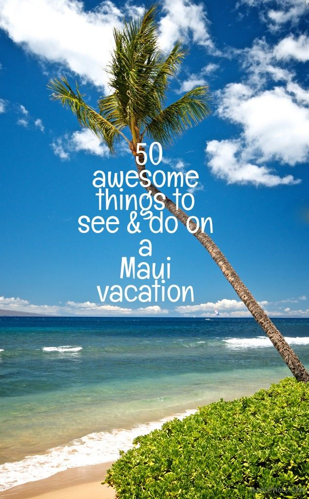 Over 50 great things to see & do on a Maui vacation