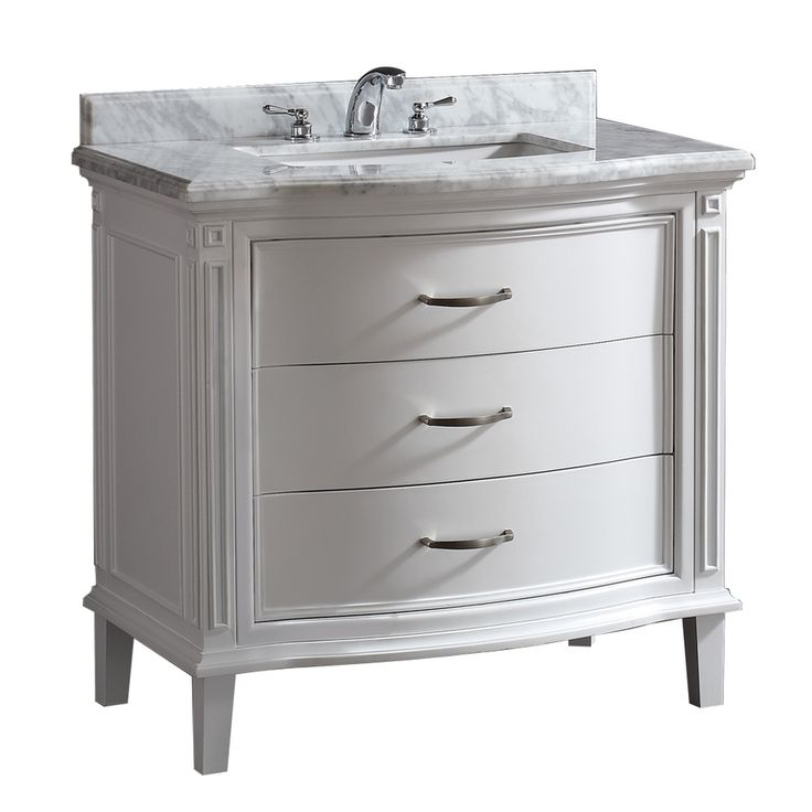 40 Inch Wide Lowes Ove Decors White Undermount Single Sink Birch Bathroom  Vanity With Natural Marble Top (Common: X Actual: X