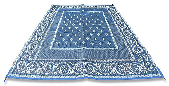 Amazon Com Redwood Mats Patio Mat 9 X 12 Blue Rv Mat