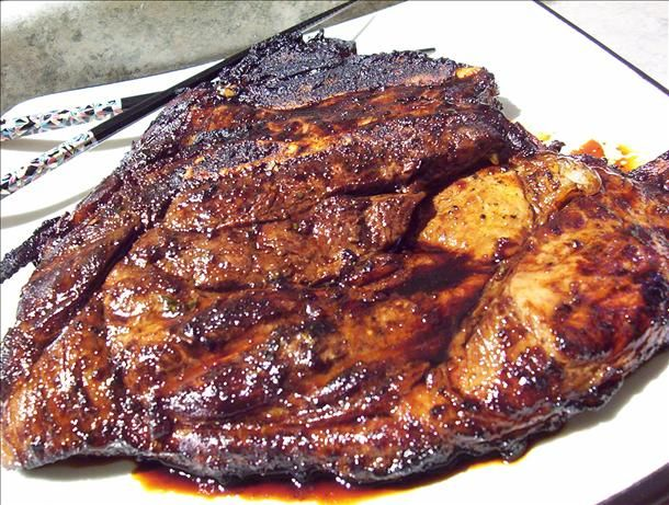 Asian Pork Steaks Marinade Recipe 1-4-15. Very good. I used amio instead of soy sauce and it turned out good. Next time we will grill it though.