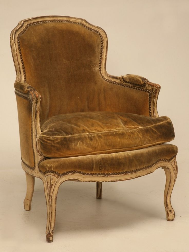 Great Authentic Antique Vintage Chairs Old Plank French Louis Xv Style Bergere  Chair. Affordable Mid Century