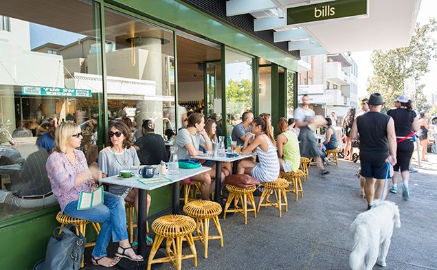 Bills Cafe, located in Surry Hills, Sydney