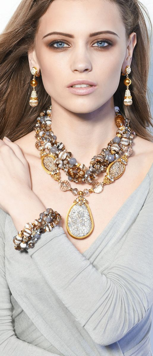Jose & Maria Barrera Multi-Stone Necklaces