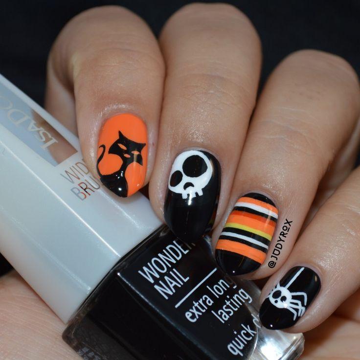 Halloween nail art.