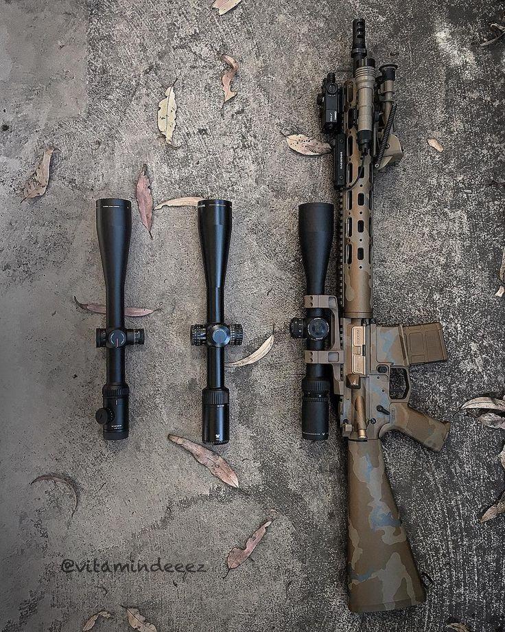 A little side by side comparison of @vortexoptics Gen 1 Viper PST 6-24x50 Gen 2 Viper 5-25x50 and Razor AMG 6-24x50 -