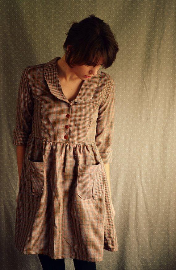Der Künstler / Bubikragen / Womens Kleider / Womens Bekleidung / Primitive rustikal Kleid / Baumwolle Kleid / Sommer Kleid / täglichen Kleid