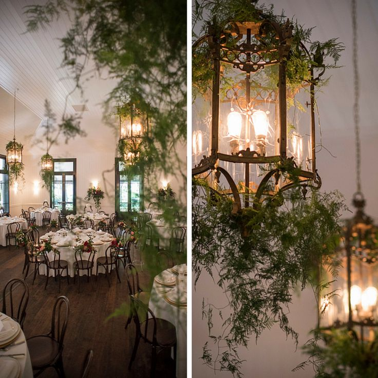 Hang Bridal Asparagus from our stunning Lanterns in the Orangery for a beautiful effect! #jaspersberryweddings #jaspersberry #weddings #weddingvenue #bridalasparagus #lanterns #lantern #jaspersorangery #orangery