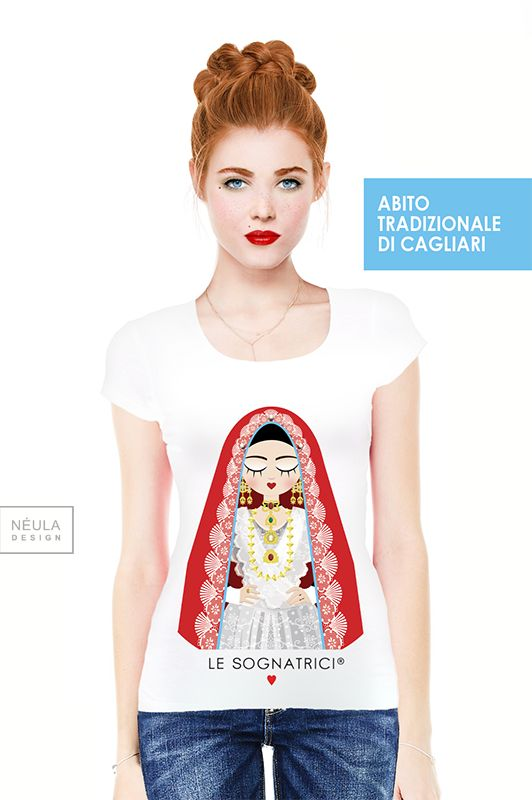 Le Sognatrici - Abito tradizionale di Cagliari - Abito tradizionale Sardegna - Abito tradizionale sardo - Traditional dress Sardinia -