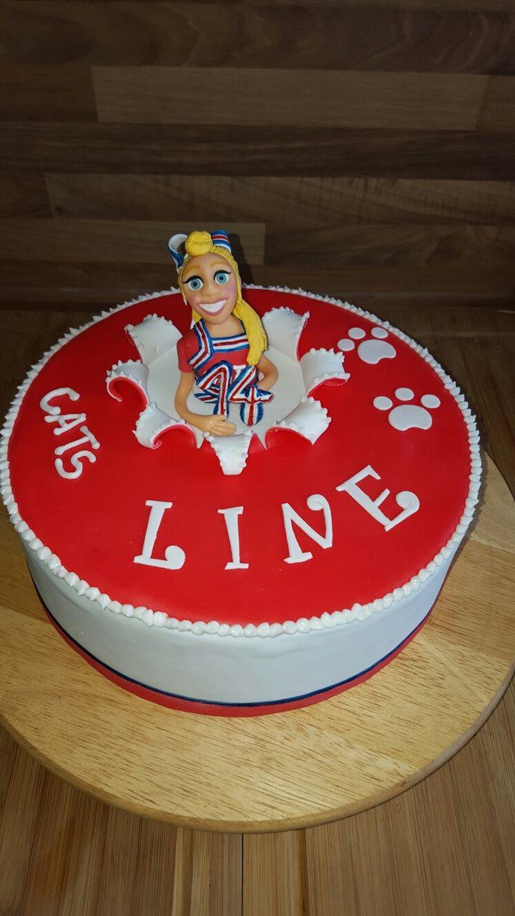 Torte für ein Cheerleader http://www.torten-talk.de/t68074f9-Cheerleader-Torte-zum.html