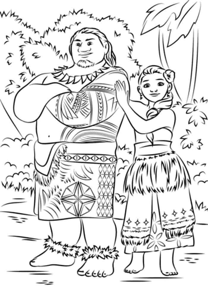 Tui And Sina Moana Parents Moana Coloring Moana Coloring Pages Disney Coloring Pages