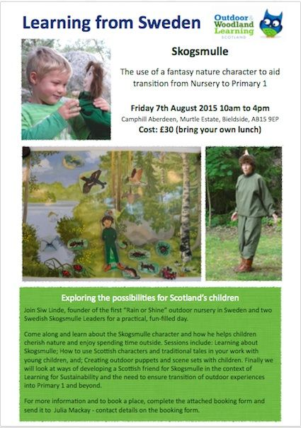 Post image for Outdoor Learning from Sweden: Training Day 7th August 2015
