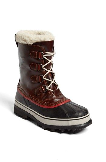 Free shipping and returns on SOREL 'Caribou' Snow Boot at Nordstrom.com. A rugged boot is designed to keep your feet warm in even the coldest temperatures, thanks to a plush faux-fur collar. The durably crafted upper is seam-sealed for waterproof protection.