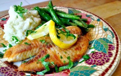4-Minute Fish: Crispy, Lemon Tilapia: Healthy Meal, Fish Seafood, Fish Food, Fish Recipes, Lemontilapia, Kitchen, Lemon Tilapia, 4 Minute Fish, Delicious Food