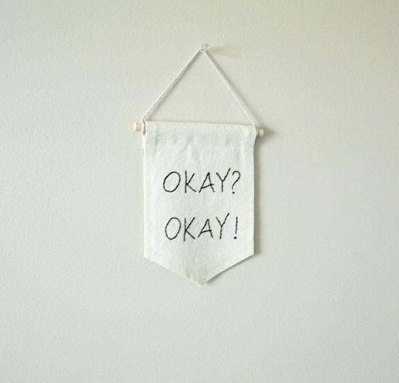 mini banner dorm decor funny quote teen room wall by ArtandAroma #minibanner #funnyquote #dormroom