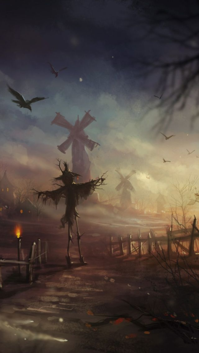 Cute Iphone Wallpapers Fall Halloween Scarecrow Iphone Wallpaper Sentimental