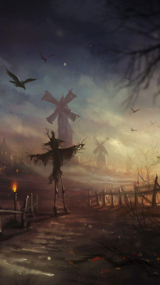 Halloween Scarecrow iPhone Wallpaper | Sentimental ...