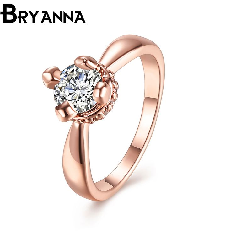 Bryanna Sweet Cute Trendy crystal Engagement rings for women fashion Jewelry bijoux femme AAA+ Austria CZ Wedding ring R2608