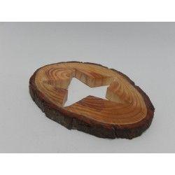 RODAJA TRONCO PINO - ESTRELLA (20cm) #natural #madera #materiales #decoración #navidad