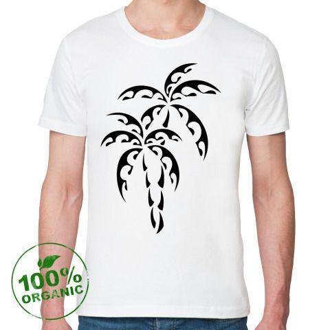 Футболка из органик-хлопка Пальмы - Простые картинки